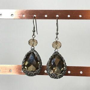 Jewelry - Crochet Metal Wrapped Rhinestone Earrings